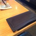 Folded napkins